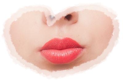 赤い口紅の塗り方