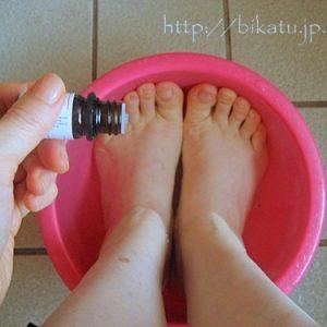 しもやけも治る足湯