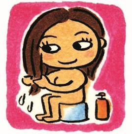 お湯だけ洗髪
